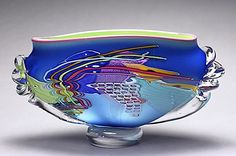 Oceanic Low Wave by Peter Ridabock. Handblown glass