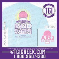 TGI Greek - Alpha Chi Omega - Philanthropy -Greek T-shirt #tgigreek #alphachiomega