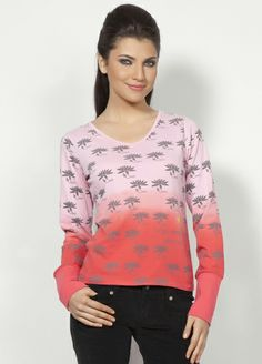 Rise & Shine above the ordinary with this beautiful Dip Dyed and Lotus printed Organic Cotton Top.