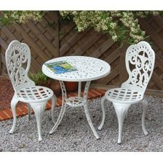 Traditional Bistro Set (White)
