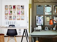 A Brit + Co. fave — a clipboard wall over the desk. | Workspaces
