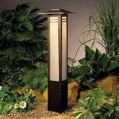 Kichler Zen Garden Bollard Single Light 11.6W Low Voltage Path & Spread Light from the Zen Garden Collection - Olde Bronze