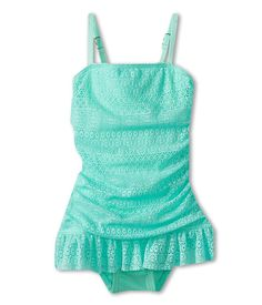 Juicy Couture Kids Little Prima Donna Shirred Swimdress w/ Ruffle (Toddler/Little Kids/Big Kids)