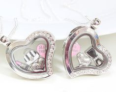 Mother Daughter Necklace, Mother Daughter Gifts, Christmas or Birthday Gift Idea, Gift Idea For Mum, Gift Idea For Daughter, Memory Lockets, Matching Necklace Set, Matching Lockets.