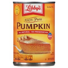 Libby's 100% Pure Pumpkin 15 oz : Give up to 1 TBSP with a meal or a few pieces of Kibble as a meal for stomach upset or constipation. Amazingly, pumpkin seems to help  various digestion issues. ***Note: only do this for a day or so, unless you decrease the amount to 1/2 TSP. Also, Sophie seems to react to food that's stored in the refrigerator more than 2 days, so toss or cook into treats.