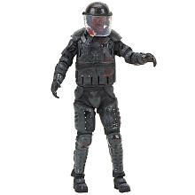 The Walking Dead TV Series Four 6 inch Action Figure - Riot Gear Zombie