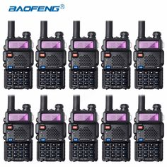 10Pcs Bao Feng UV-5R Walkie-Talkie Wholesale Baofeng UV5R CB Radio VHF UHF Dual Band Two Way Radio 5W VOX Flashlight Ham Radio #Affiliate