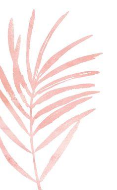 Pink Leaf Print. Blush Pink Botanical Art Print. Light Pink | Etsy