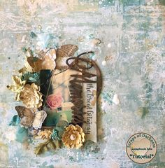 It's Cindy Brown with my first Tutorial for Scrap and Darkness. For this post I used the Scraps Of Darkness July Kit : The. Club Design, 2017 Design, Mixed Media Scrapbooking, Mixed Media Canvas, Diy Scrapbook, Watercolor Art, Creations, Paper Crafts, Doll