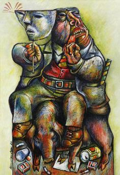 Título : Marionete Artista : Alvaro Apocalypse - Álvaro Brandão Apocalypse Ano : 1974 Técnica : Pastel Dim. : 70 x 50 cm {EC741FB4-7CA8-4702-905A-5FDF9A065B9F}_LeilãoPalaciodosLeilõesOutubrode2010-Item-051.jpg (364×533)