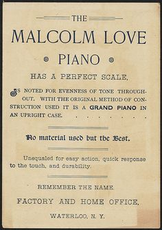 Buy the Malcolm Love Piano (back) | Flickr - Photo Sharing!