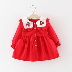 Girls Summer Outfits, Dresses Kids Girl, Little Girl Outfits, Cute Girl Outfits, Cute Outfits For Kids, Baby Outfits, Baby Dress Design, Baby Girl Dress Patterns, Kids Frocks Design