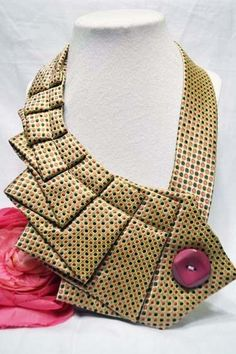 3 B Street #handmade #repurposed- Unique Repurposed Necktie Necklace/Trendy Collar -- Colorful Dots with Bubble Gum Button by Styles By Ana