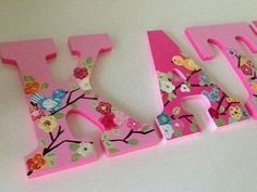 Custom Painted Girl's Wall Letters  Cherry by SophiasRosieRoom, $13.00