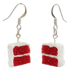 Red Velvet Cake Earrings ? Better on my ears than on my hips, right @Torie Grosso