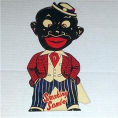 "Vintage Black Americana Advertising Store Counter Display ""Smoking Sambo"""