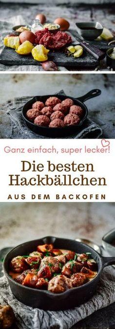 Die einfachsten und leckersten Hackbällchen aus dem Ofen. Super Fingerfood!