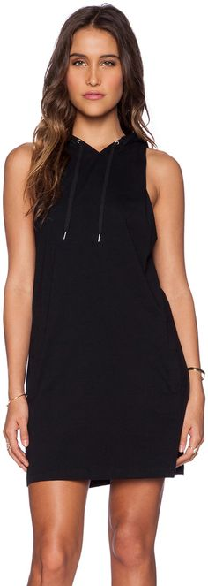 First Base Hooded Muscle Tank Dress