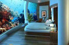 Cool Stuff Underwater Bedroom Poseidon Undersea Resort --Katafinga Island, Fiji TV Wall Mount And Wi Fiji Hotels, Best Hotels, Marriott Hotels, Top Hotels, Luxury Hotels, Poseidon Undersea Resort, Underwater Hotel Room, Dubai, Good Night Sleep
