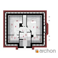 Dom w lotosach (PD) Floor Plans, Floor Plan Drawing, House Floor Plans