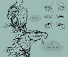 can't be bothered by Kiiju on DeviantArt Clay Dragon, Dragon Art, Aliens, Godzilla, Dragon Anatomy, Wings Of Fire Dragons, Dragon Sketch, Fire Art, Drawing Tips