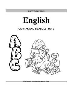 مذكرة لتعليم الحروف الانجليزية English Capital And Small Letters Small Letters Apple My Star Apple