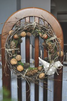 Christmas Decorations – christmas wreath, tilda bird – a unique product by ViolaSororia on DaWanda Christmas Wreaths, Christmas Decorations, Xmas, Grapevine Wreath, Grape Vines, Bird, Unique, Handmade, Etsy