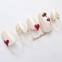 Beautiful Nail Designs, Cute Nail Designs, Lily Nails, Asian Nails, Nail Pops, Nail Art Techniques, Valentine Nail Art, Kawaii Nails, Nail Candy