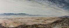 Riebeek Valley 2018 Drought,  Oil on Canvas 50X120cm