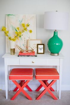 idea for in living room for my new desk area Gild and Grace