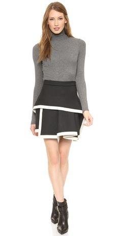 McQ - Alexander McQueen Binded Peplum Skirt |