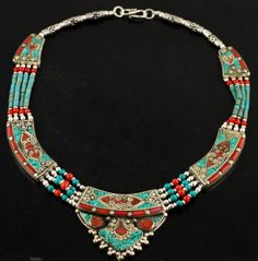 Unique Tibetan Turquoise & Coral Premium Old by Jaipurjewellery, $44.99