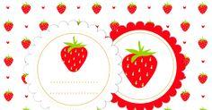 MeinLilaPark – DIY printables and downloads: free digital strawberry scrapbooking paper and embellishment - Clipart Erdbeere und Papier - freebie