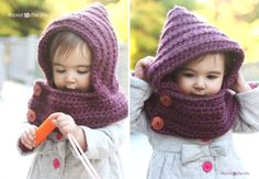 Crochet Hooded Cowl with Free Pattern AWESOME!!!
