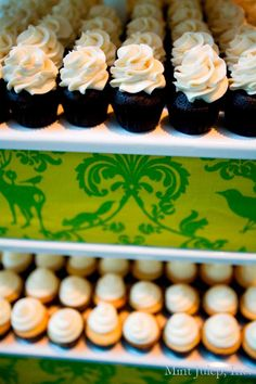 Cupcake Tower ~ Coordination by Mint Julep Social Events.