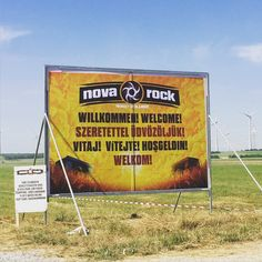 Los geht's! #NR16 Nova Rock, Camping, Signs, Campsite, Shop Signs, Sign, Campers, Dishes, Rv Camping