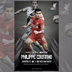 """Congratulations to @phil.coutinho, #LFC's man of the match against West Ham"""