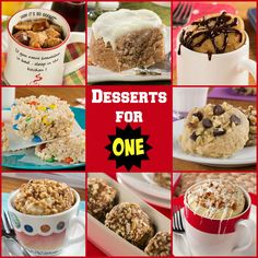 Desserts for One | When you just need to something quick and easy to satisfy your sweet tooth!