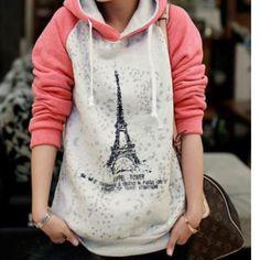 "Spotted while shopping on Poshmark: ""Eiffel Tower sweatshirt""! #poshmark #fashion #shopping #style #Outerwear"