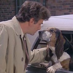 "Columbo with ""Dog"", his pet dog. :)"