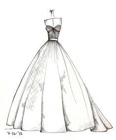Weddinng Dress Illustration By Lisa M: Inspiring Dress Sketches For Wedding Dress