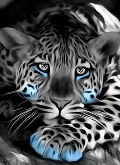 48213410 Diamond Painting - Full Round - Leaopard in 2020 Beautiful Cats, Animals Beautiful, Cute Animals, Big Cats Art, Cat Art, Wild Animal Wallpaper, Tiger Artwork, Wolf Artwork, Tier Wallpaper
