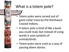 Totem Pole Symbols and Meanings - Bing images Native American Projects, Native American History, Native American Totem Poles, Totems, Totem Pole Meaning, Totem Poles For Kids, What Is A Totem, Totem Pole Craft, Aboriginal Art For Kids