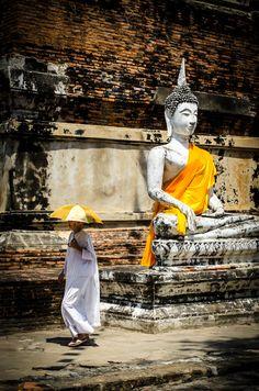 Monk in Ayutthaya, Thailand