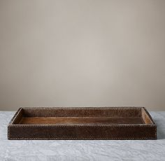 Brazilian Hide Bath Tray Large - Brown