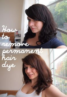 How To Remove Permanent Hair Dye without bleach or an expensive trip to the salon.