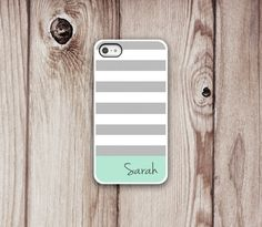 Mint iPhone Case 5 or 4/4s - Iphone 5 case - Iphone 4 case - Iphone 4s case - Iphone Cover - Stripes iPhone Cases by Luv Your Case (213)