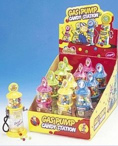 Kidsmania Gas Pump Candy Dispenser (x 12 units) Candy Dispenser, Gas Pumps, Pop Tarts, Toy Chest, Packing, The Unit, Toys, Decor, Bag Packaging
