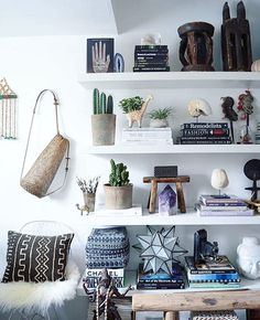 """The Jungalow™ on Instagram: """"Some serious #shelfie gorgeousness! This one is from @apartmentf15 tag your shelfies with #jungalowstyle and we're regramming our favorites today!"""""""