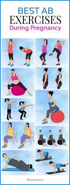 18 Safe Abdominal (Ab) Exercises To Perform During Pregnancy #pregnancyyoga,